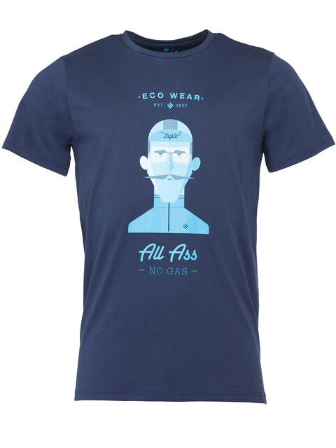 Triple2 Laag Face T-Shirt Men Peacoat